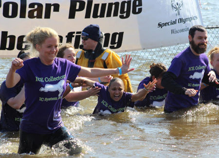 IC System takes the Polar Plunge for the Special Olympics in 2017