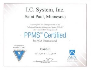 IC SYSTEM PPMS CERTIFICATION