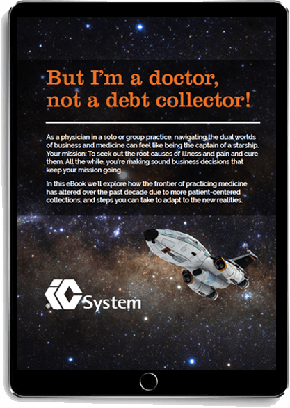 But I'm a doctor, not a debt collector eBook displayed on a tablet
