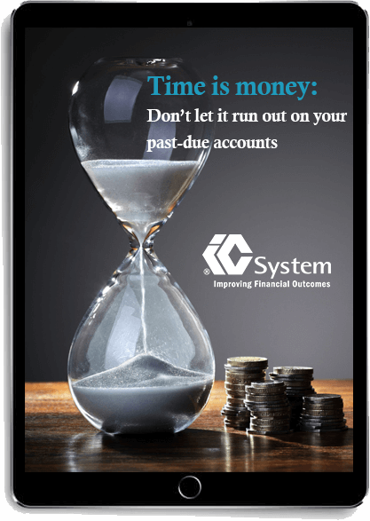 Time is Money: Don't let it run out on your past-due accounts eBook displayed on Tablet