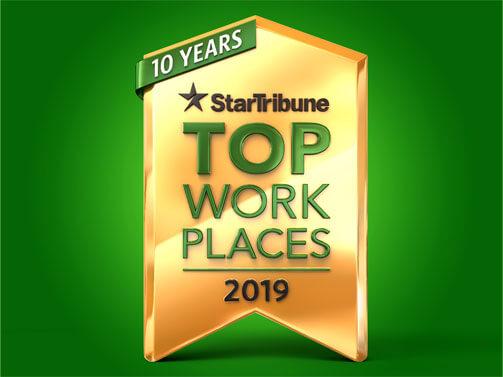 Star Tribune Top Work Places 2019 badge