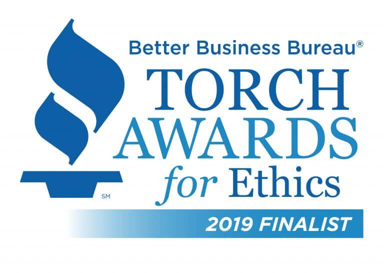 Better Business Bureau Torch Awards for Ethics 2019 Finalist logo