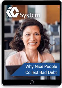 Why nice people collect bad debt eBook displayed on tablet