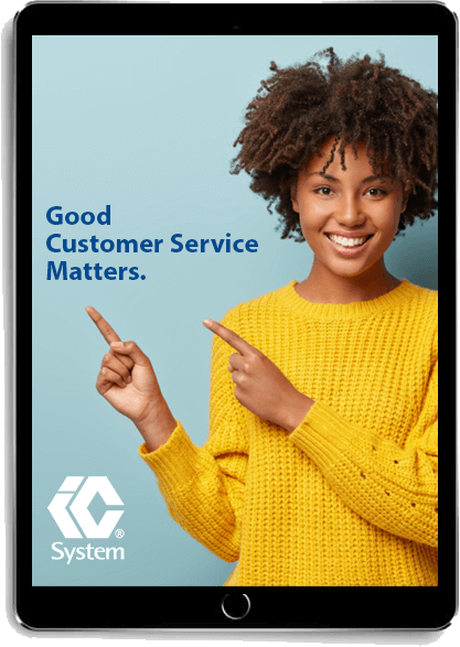 eBook Good Customer Service Matters displayed on a tablet