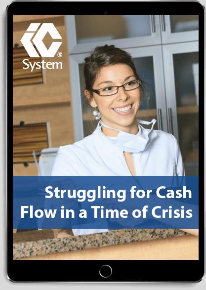 "eBook ""Struggling for Cash Flow in a Time of Crisis"" displayed on tablet"