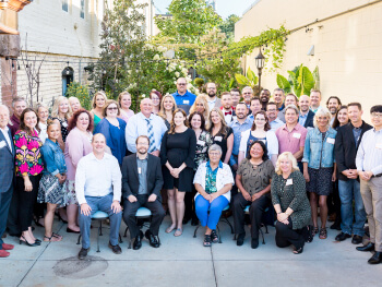 A large group picture of IC Systems employees